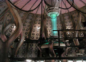 The interior of the TARDIS